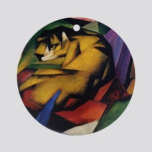 The Tiger by Franz Marc Ornament (Round)