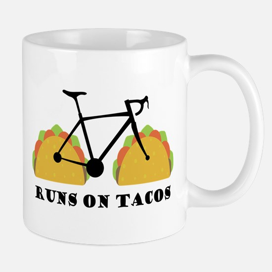 Runs On Tacos Mugs