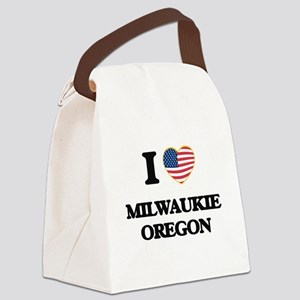 I love Milwaukie Oregon Canvas Lunch Bag