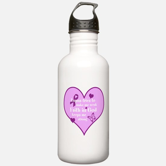 God Strong/Lupus Water Bottle