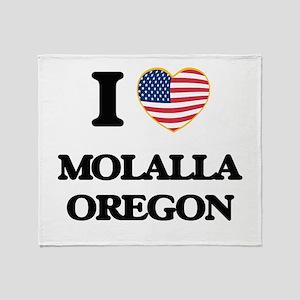 I love Molalla Oregon Throw Blanket