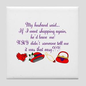 Shopping Again Tile Coaster
