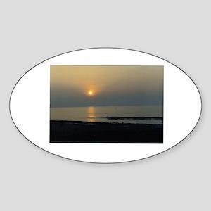sunset photo Oval Sticker