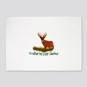 Rather Be Deer Hunting 5'x7'Area Rug