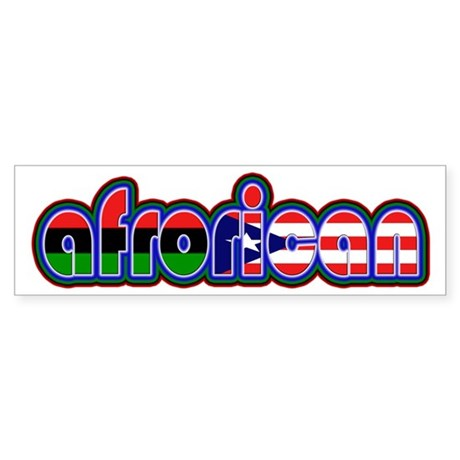 Afrorican3 Bumper Sticker