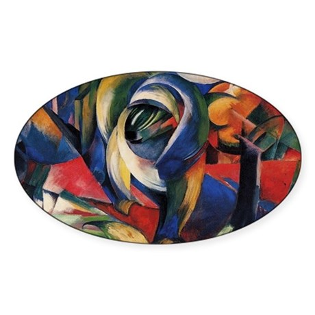 The Mandrill by Franz Marc Oval Sticker