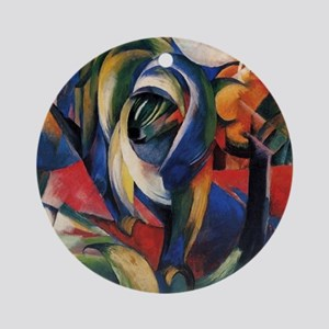 The Mandrill by Franz Marc Ornament (Round)