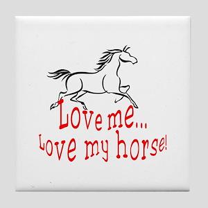 Love My Horse Tile Coaster