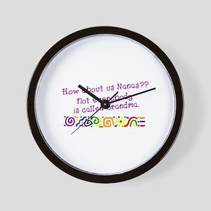 Nanas Grandmas Wall Clock
