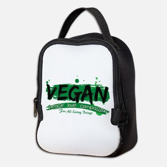 Vegan Peace Love Compassion Neoprene Lunch Bag