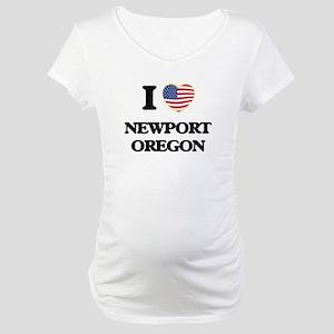 I love Newport Oregon Maternity T-Shirt
