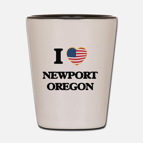 I love Newport Oregon Shot Glass