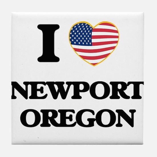I love Newport Oregon Tile Coaster