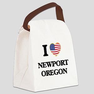 I love Newport Oregon Canvas Lunch Bag