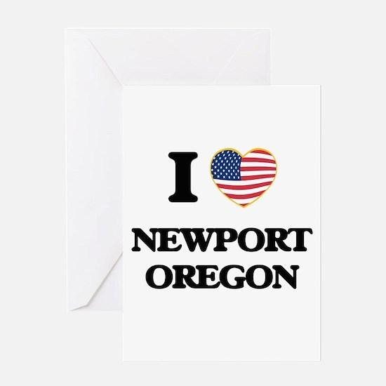 I love Newport Oregon Greeting Cards