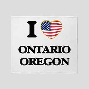 I love Ontario Oregon Throw Blanket