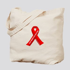 Red Ribbons for Workplace Bullying Awareness Tote