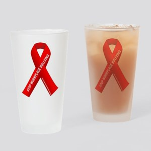 Red Ribbons for Workplace Bullying Awareness Drink