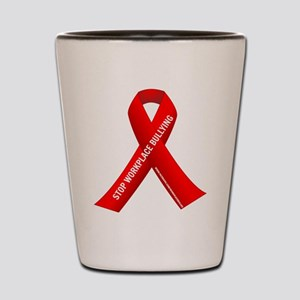 Red Ribbons for Workplace Bullying Awareness Shot