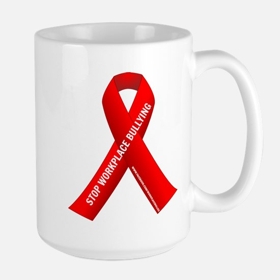 Red Ribbons for Workplace Bullying Awareness Mugs