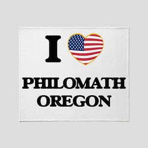 I love Philomath Oregon Throw Blanket
