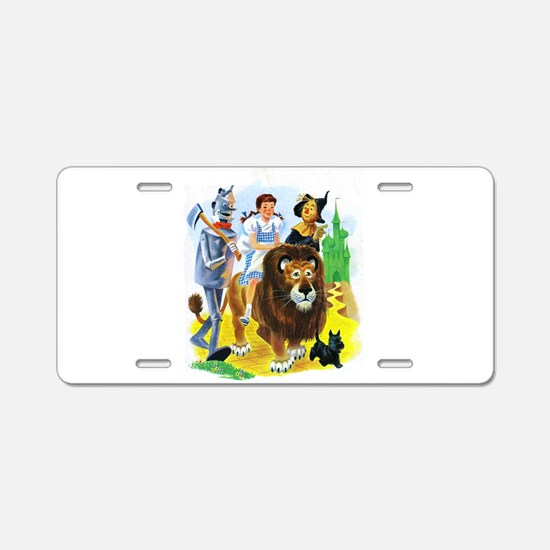 Wizard of Oz - Follow the Y Aluminum License Plate