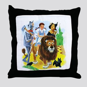 Wizard of Oz - Follow the Yellow Bric Throw Pillow