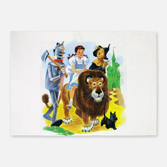 Wizard of Oz - Follow the Yellow Br 5'x7'Area Rug