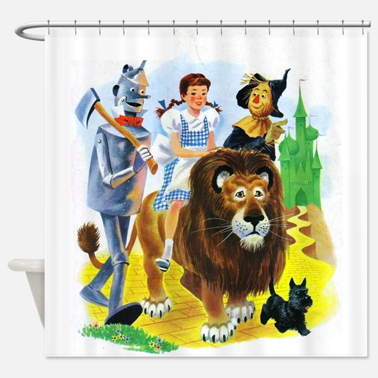 Wizard of Oz - Follow the Yellow Br Shower Curtain