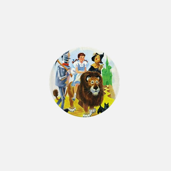 Wizard of Oz - Follow the Yellow Brick Mini Button