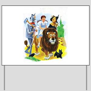 Wizard of Oz - Follow the Yellow Brick R Yard Sign