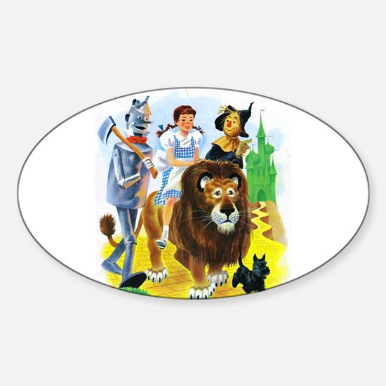 Wizard of Oz - Follow the Yellow Br Sticker (Oval)