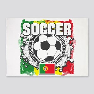Soccer Portugal 5'x7'Area Rug