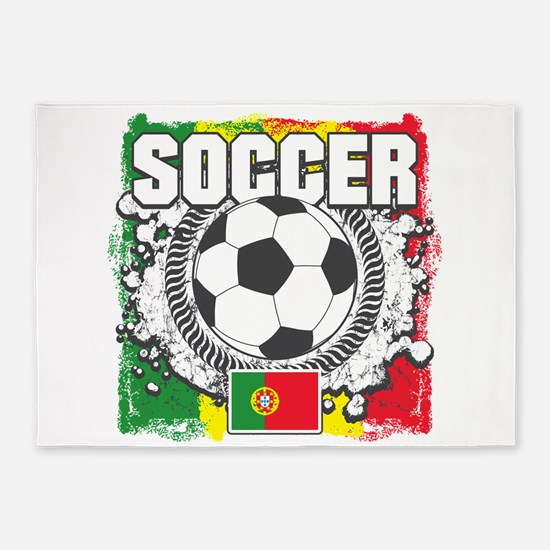 Soccer Portugal 5'x7'Area Rug