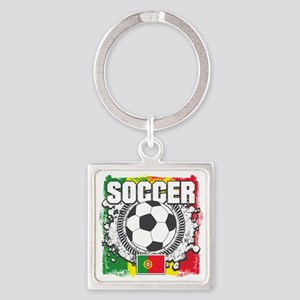 Soccer Portugal Square Keychain