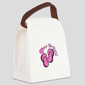 Love My Flip Flops Canvas Lunch Bag