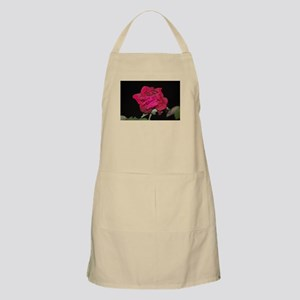 Nocturnal red rose Apron