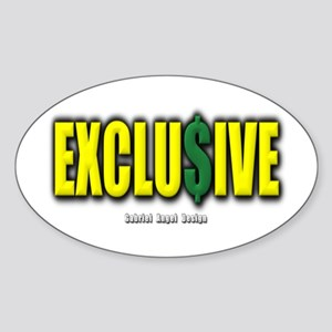 Exclusive Oval Sticker