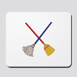 Crossed Mop & Broom Mousepad