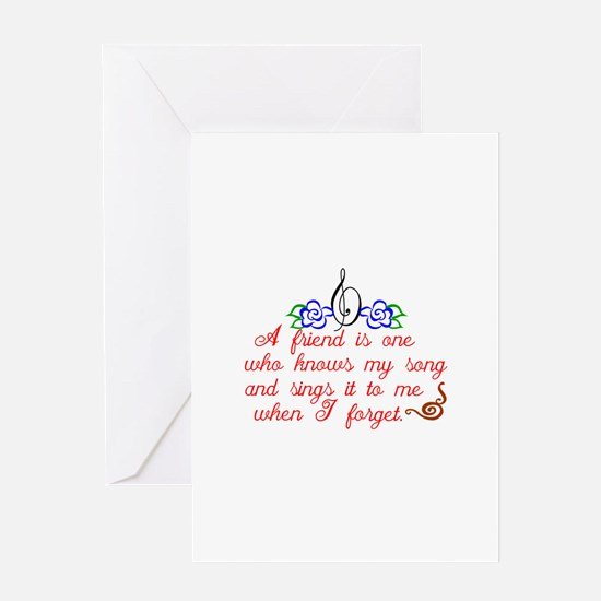 A friend sings Greeting Cards
