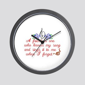 A friend sings Wall Clock