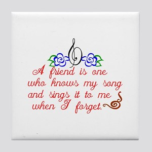 A friend sings Tile Coaster