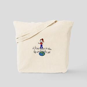 Friend Walks In Tote Bag