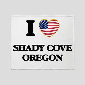 I love Shady Cove Oregon Throw Blanket
