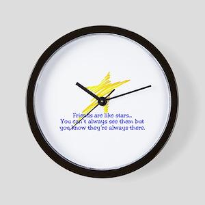 Friends Are Like Stars Wall Clock