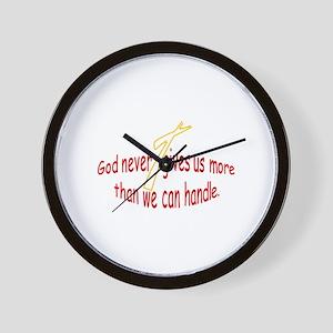 God Handles Wall Clock