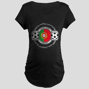 Portugal Soccer Maternity Dark T-Shirt