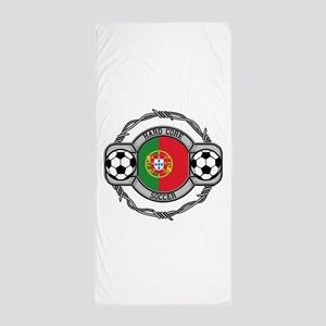 Portugal Soccer Beach Towel