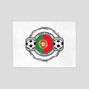 Portugal Soccer 5'x7'Area Rug