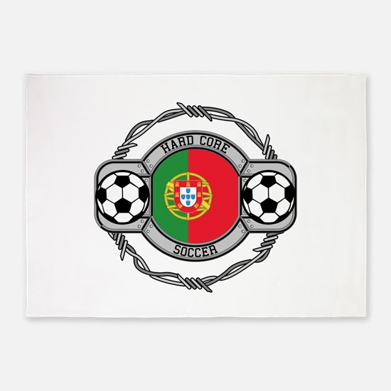 Portugal Soccer 5'x7'Area Rug